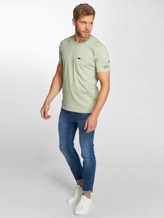 Lee T-Shirt Pocket vert
