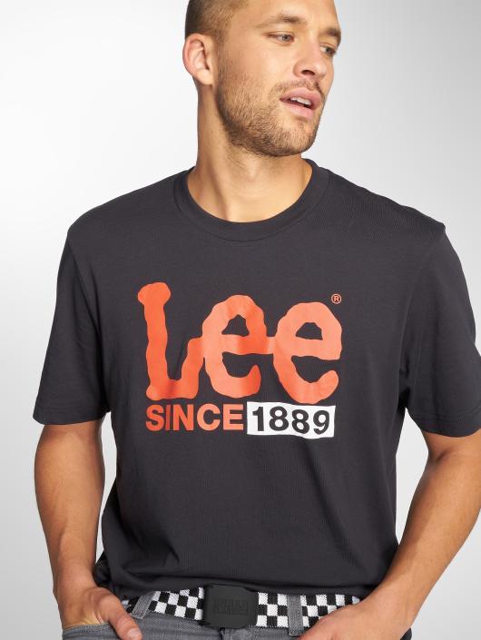 Lee t-shirt 1889 Logo zwart