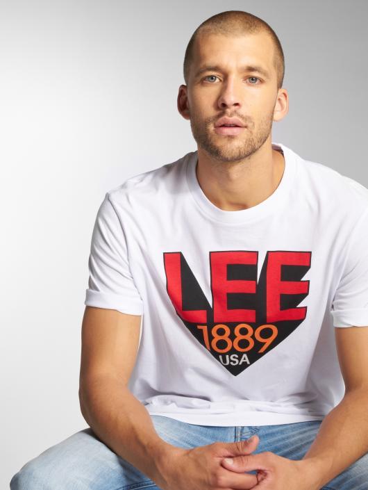 Lee T-skjorter Retro hvit