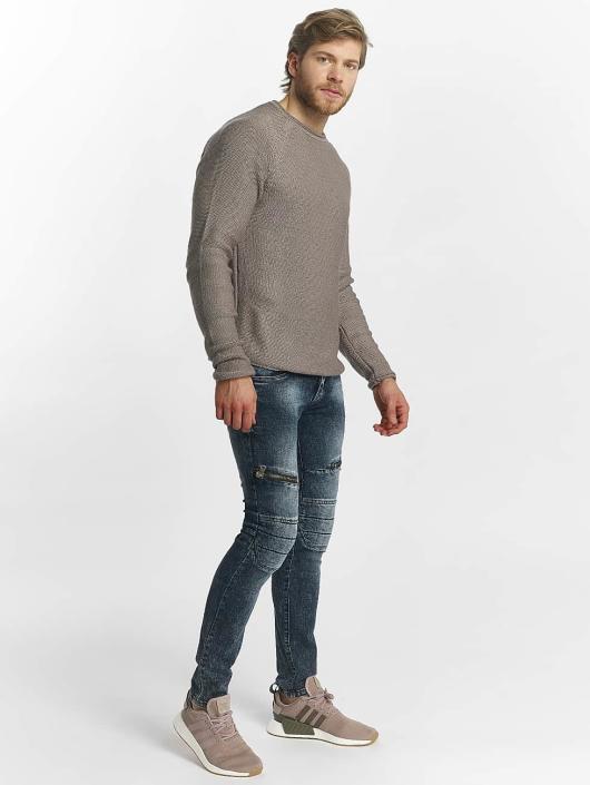 ... Leg Kings Jean skinny Zipper bleu ... af1dc072a33
