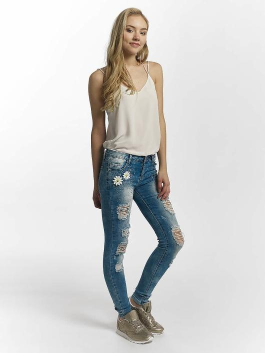 Leg Kings Jean skinny Flower bleu