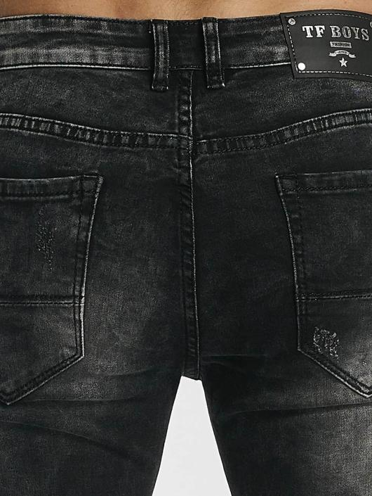 Leg Kings Jean skinny Ribbed Destroyed gris