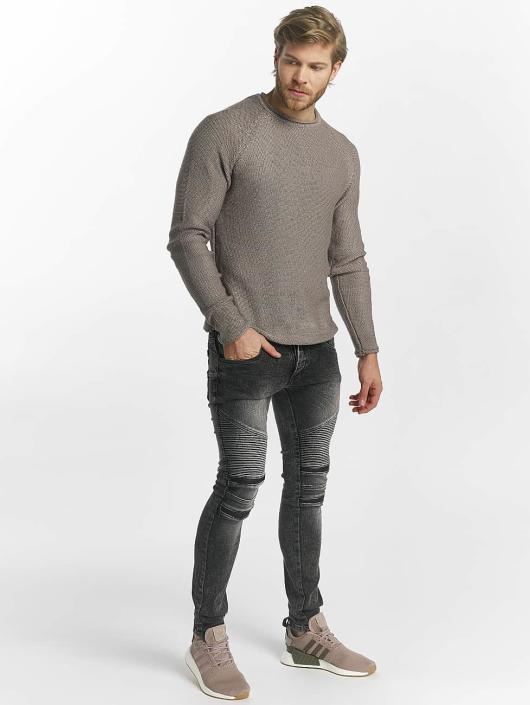 Leg Kings Skinny Jeans Zipper grau