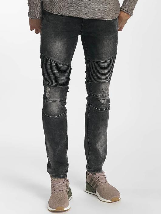 e33fcc99519f Leg Kings Herren Skinny Jeans Ribbed Destroyed in grau 464178