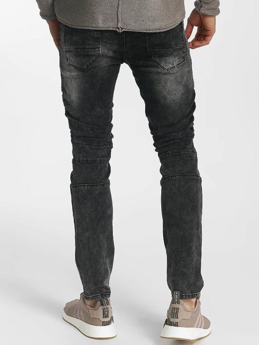 Leg Kings Skinny Jeans Ribbed Destroyed gray