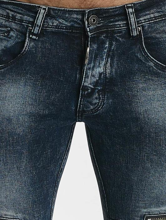 Leg Kings Skinny Jeans Zipper niebieski