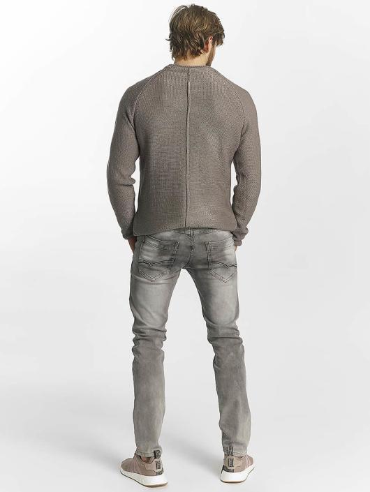 Leg Kings Slim Fit Jeans Washed šedá