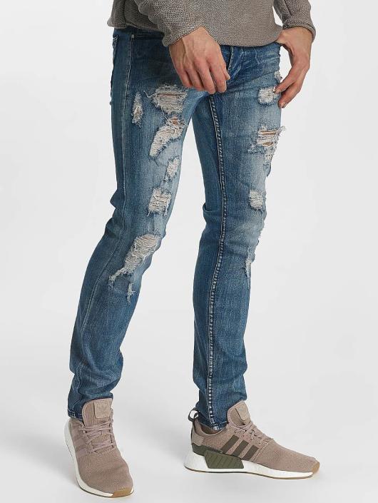 Leg Kings Slim Fit Jeans Destroyed blau