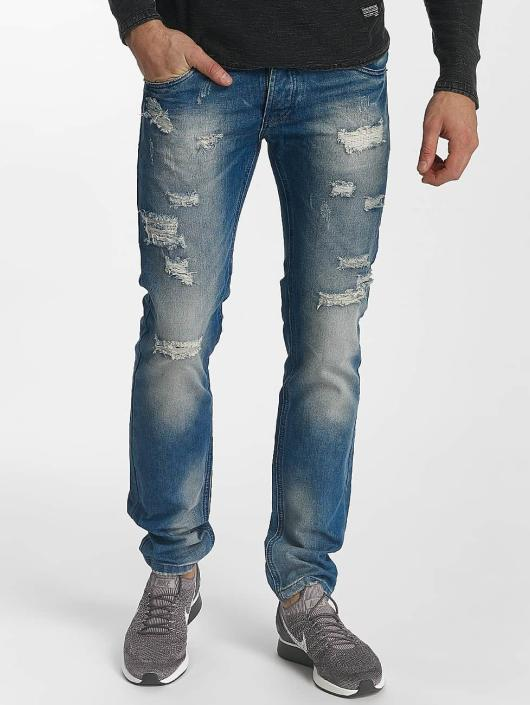 Leg Kings Slim Fit Jeans Destroyed blau