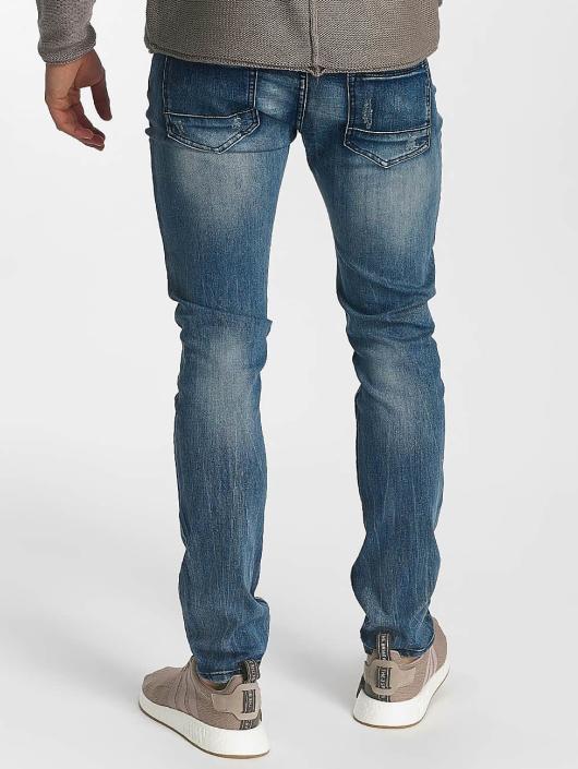 Leg Kings Slim Fit Jeans Destroyed modrá