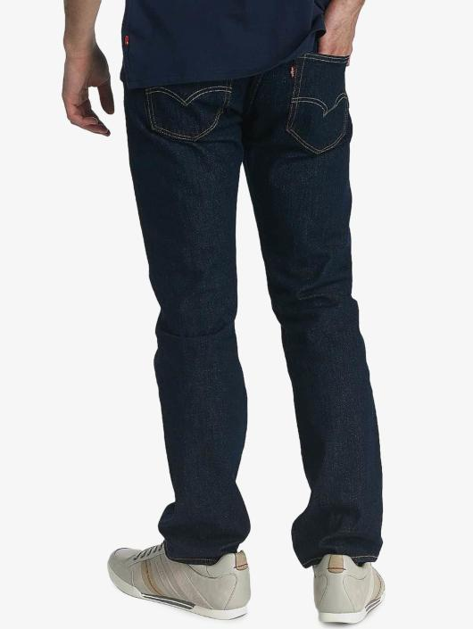 Levi's® Straight Fit Jeans Button Fly Onewash blau