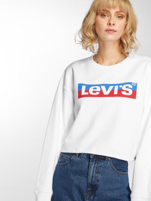 Levi's® Svetry Graphic Raw Cut Crew New Logo bílý
