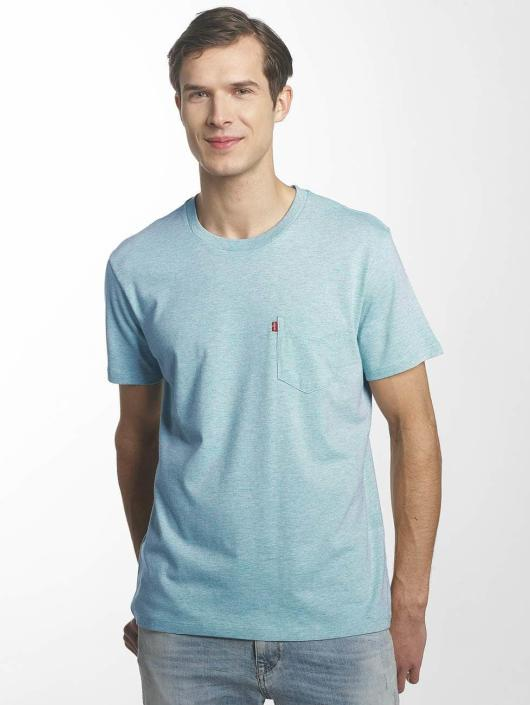 Levi's® t-shirt Set In Sunset Pocket blauw