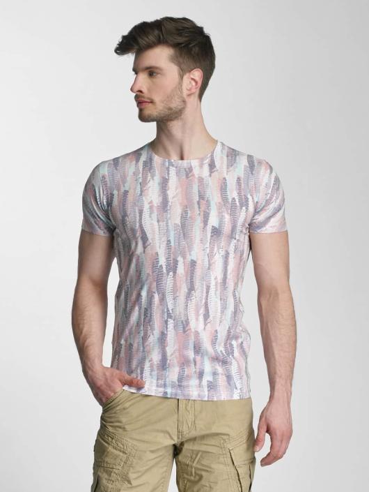Lindbergh T-Shirt Allover Print O-Neck bunt