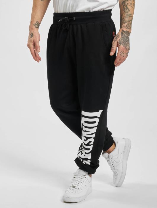 Lonsdale London Spodnie do joggingu Logo Large czarny