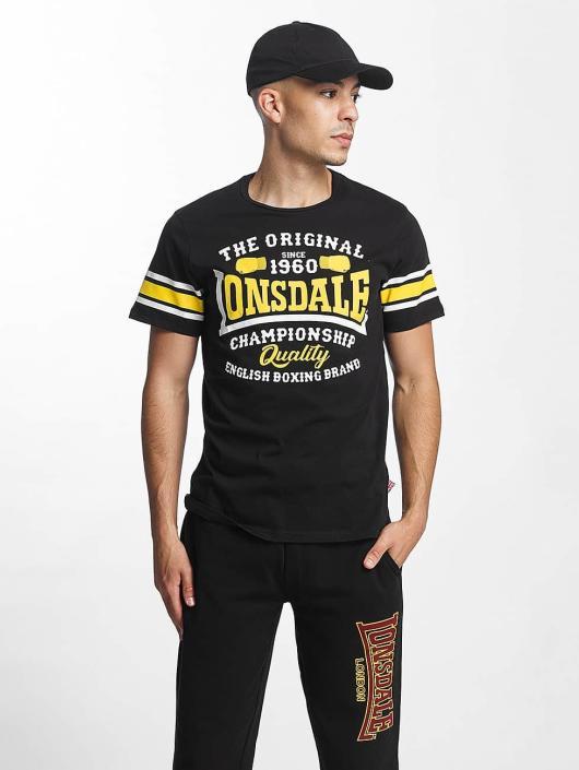 Lonsdale London T-paidat Congleton Slim Fit musta