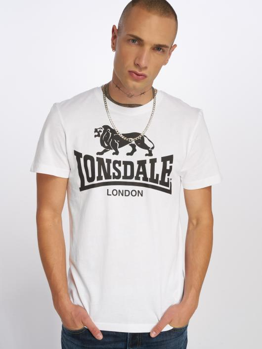 Lonsdale London T-Shirty Logo bialy