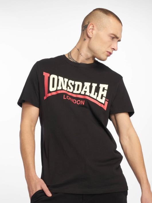 Lonsdale London T-Shirty Two Tone czarny