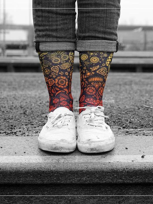 LUF SOX Socks Sugar Skull colored