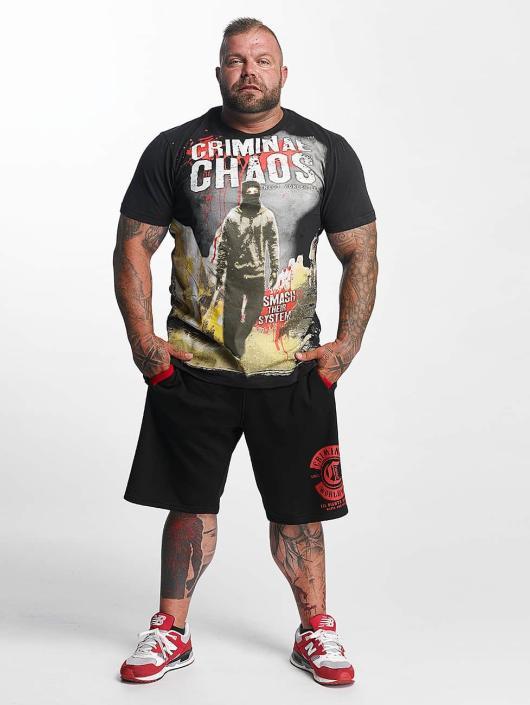 Mafia & Crime T-Shirty Criminal Chaos czarny