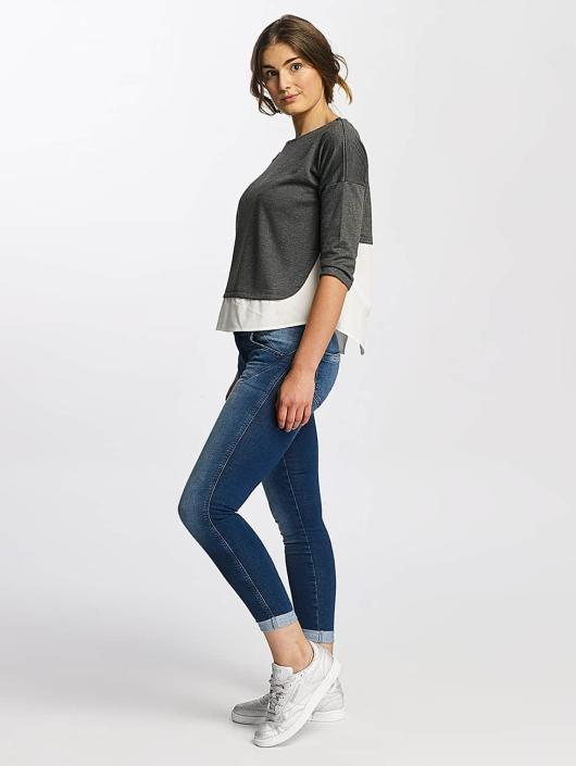 Mavi Jeans Pullover Boat Neck grau