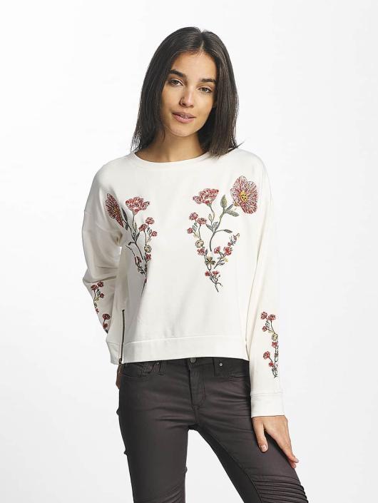 0ac20753ae9ad Mavi Jeans   Embroidered blanc Femme Sweat   Pull 375945