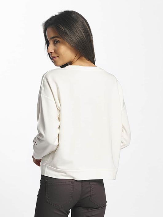 Sweatamp; Jeans Femme Pull Mavi 375945 Embroidered Blanc Nwv8Omn0