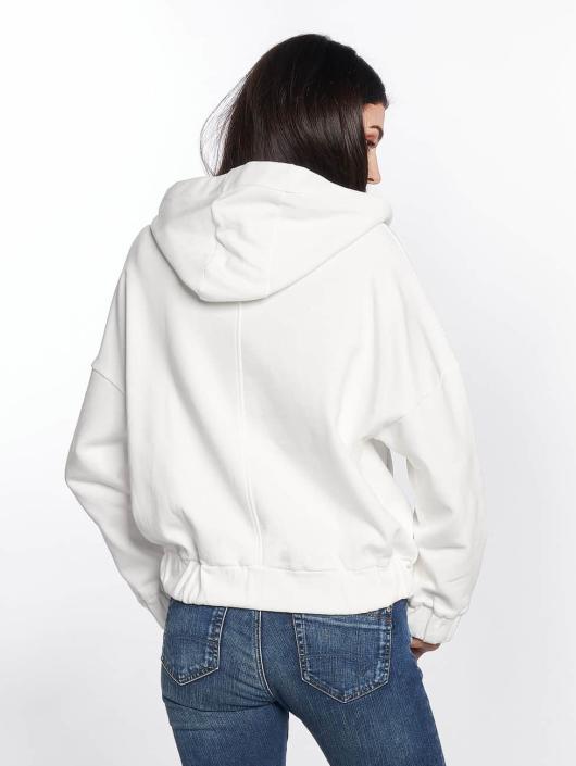 Mavi Jeans Sweat capuche zippé Zip Up blanc