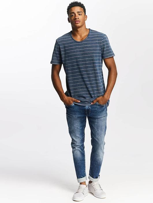 T Homme Jeans Indigo shirt Stripe Mavi 355480 Bq78n4