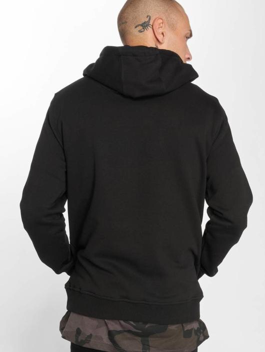 Merchcode Bluzy z kapturem Hustler Embroidery czarny