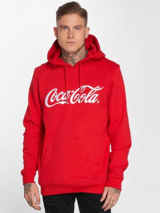 Merchcode Bluzy z kapturem Coca Cola Classic czerwony