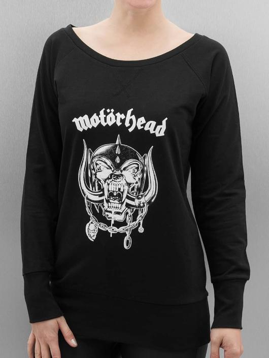 Merchcode Pullover Ladies Motörhead Everything Louder Wideneck schwarz