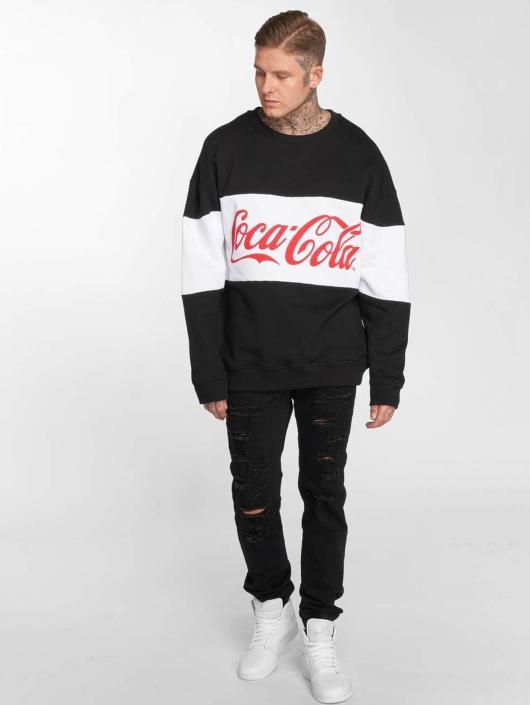 Merchcode Sweat & Pull Coca Cola Stripe Oversized noir