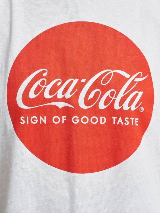 Merchcode T-paidat Coca Cola Round Logo valkoinen
