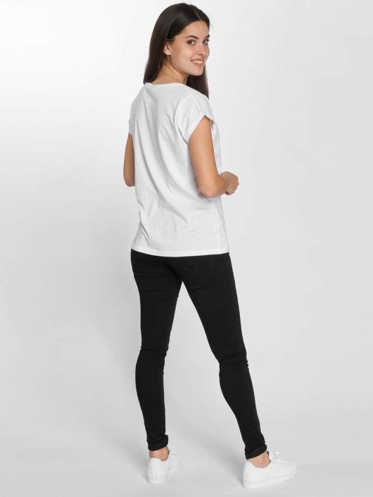 Merchcode T-shirt Betty Boop Red Dress bianco
