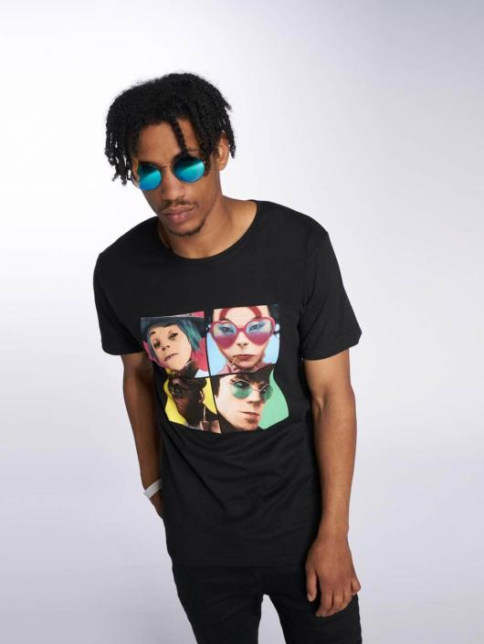 Merchcode T-Shirt Gorillaz 4 Faces black