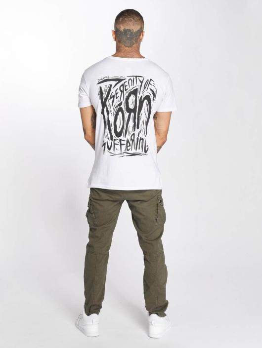 Merchcode T-Shirt Korn Suffering blanc