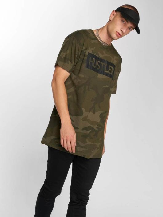 merchcode hustler logo camo camouflage homme t shirt 522064. Black Bedroom Furniture Sets. Home Design Ideas