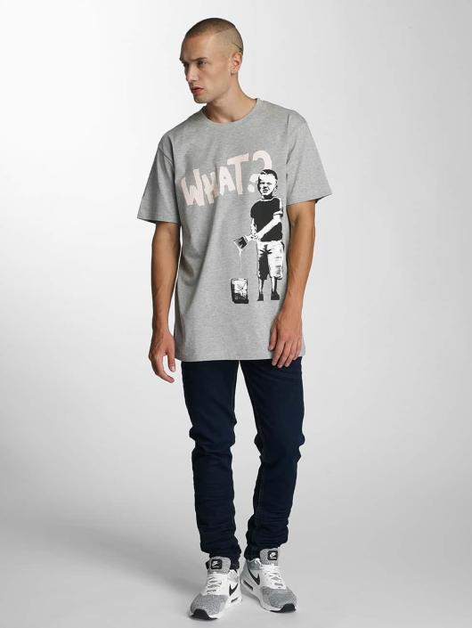 Merchcode T-Shirt Banksy What Boy grau