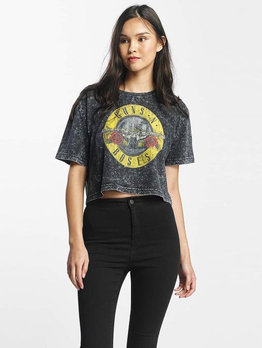 Merchcode t-shirt Guns N Roses Oversize grijs