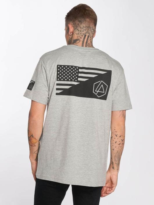 Merchcode T-Shirt Linkin Park Flag gris