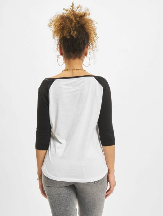 Femme shirt Merchcode Ladies Raglan Banksy Blanc Manches Longues 371512 T Balloons LUVSpGqMz