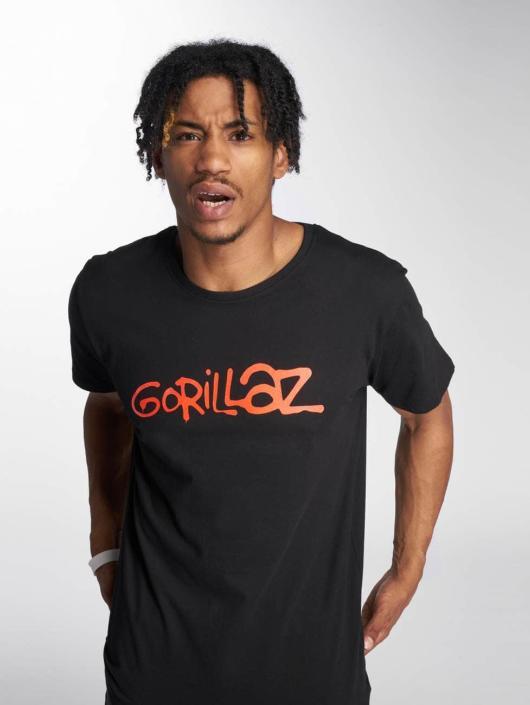 Merchcode T-Shirt Gorillaz Logo schwarz