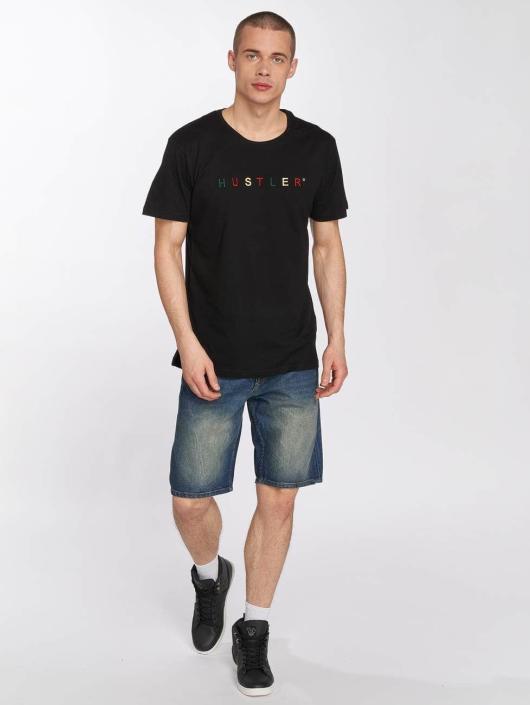 Merchcode T-shirt Hustler Embroidery svart