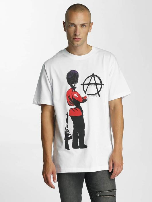 Merchcode T-Shirt Banksy Anarchy weiß