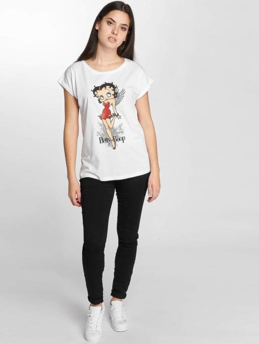 Merchcode T-Shirt Betty Boop Red Dress white