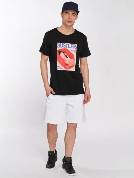 Merchcode t-shirt Hustler Tongue zwart