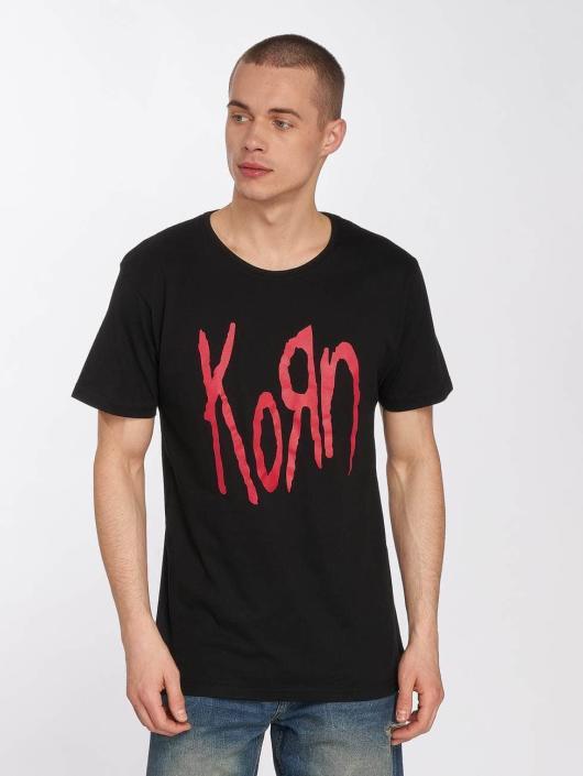Merchcode t-shirt Korn Logo zwart