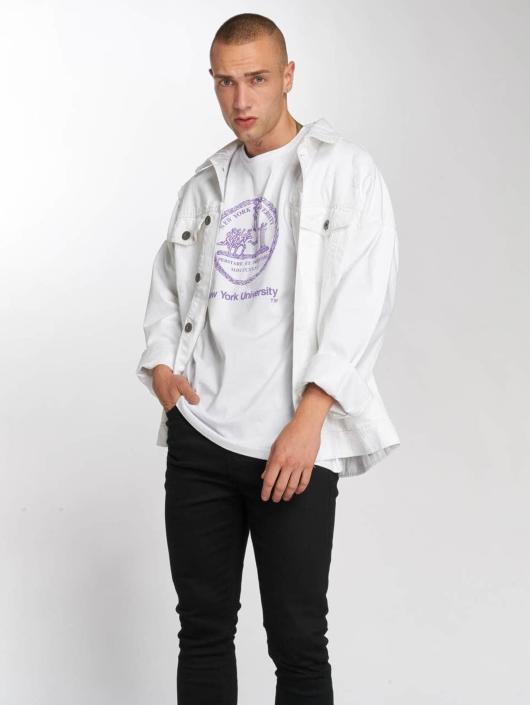 Merchcode T-Shirty Nyu bialy