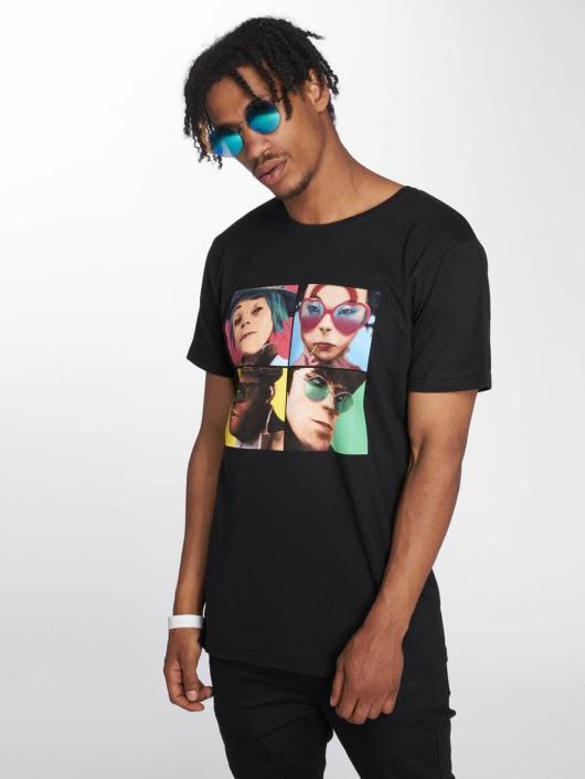 Merchcode T-Shirty Gorillaz 4 Faces czarny